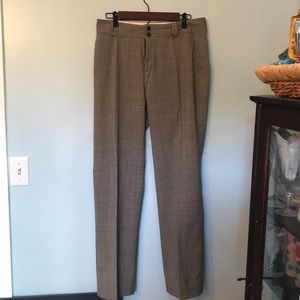 BR Plaid pant with blue